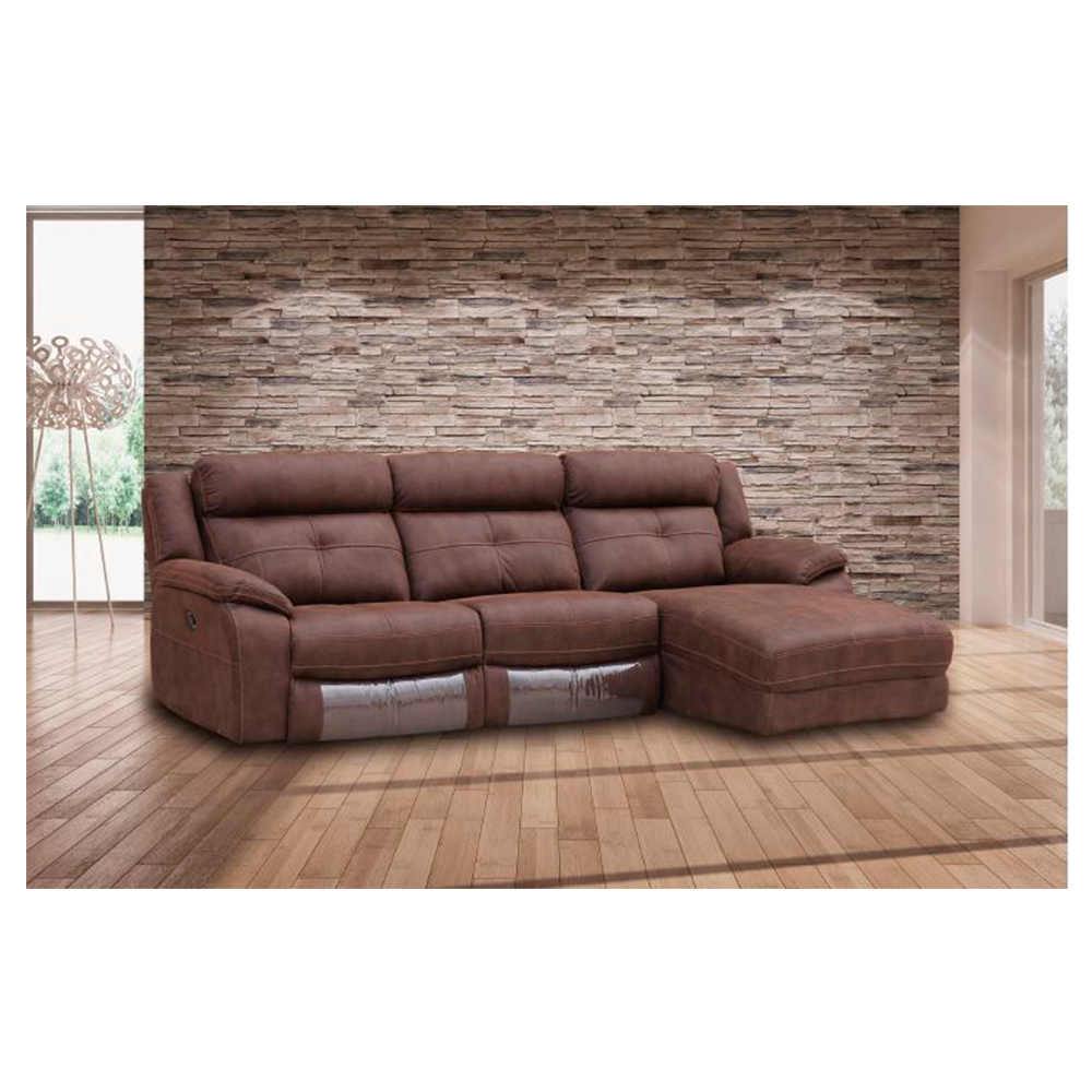 Sof 3 plazas con cheslong boston royal nobuck canalhome - Sofas oviedo ...