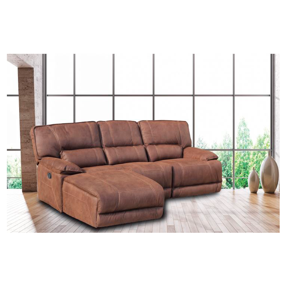 Sof 3 plazas con cheslong viena el ctrica royal nobuck for Sofas 3 plazas mas cheslong