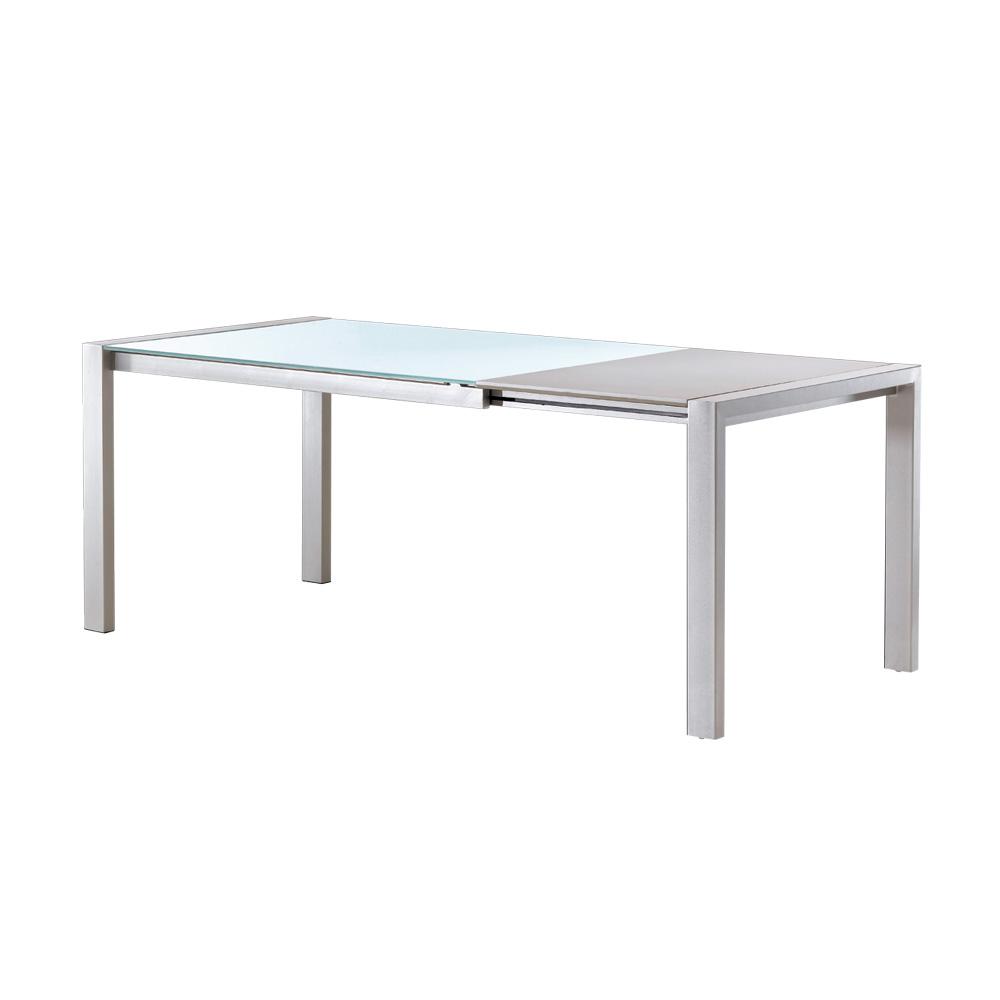 Mesa extensible silver canalhome - Mesa salon extensible ...