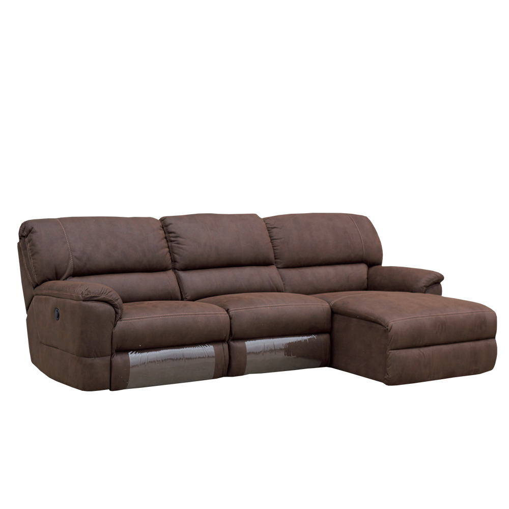 Sof 3 plazas con cheslong praga el ctrica royal nobuck for Sofas 3 plazas mas cheslong
