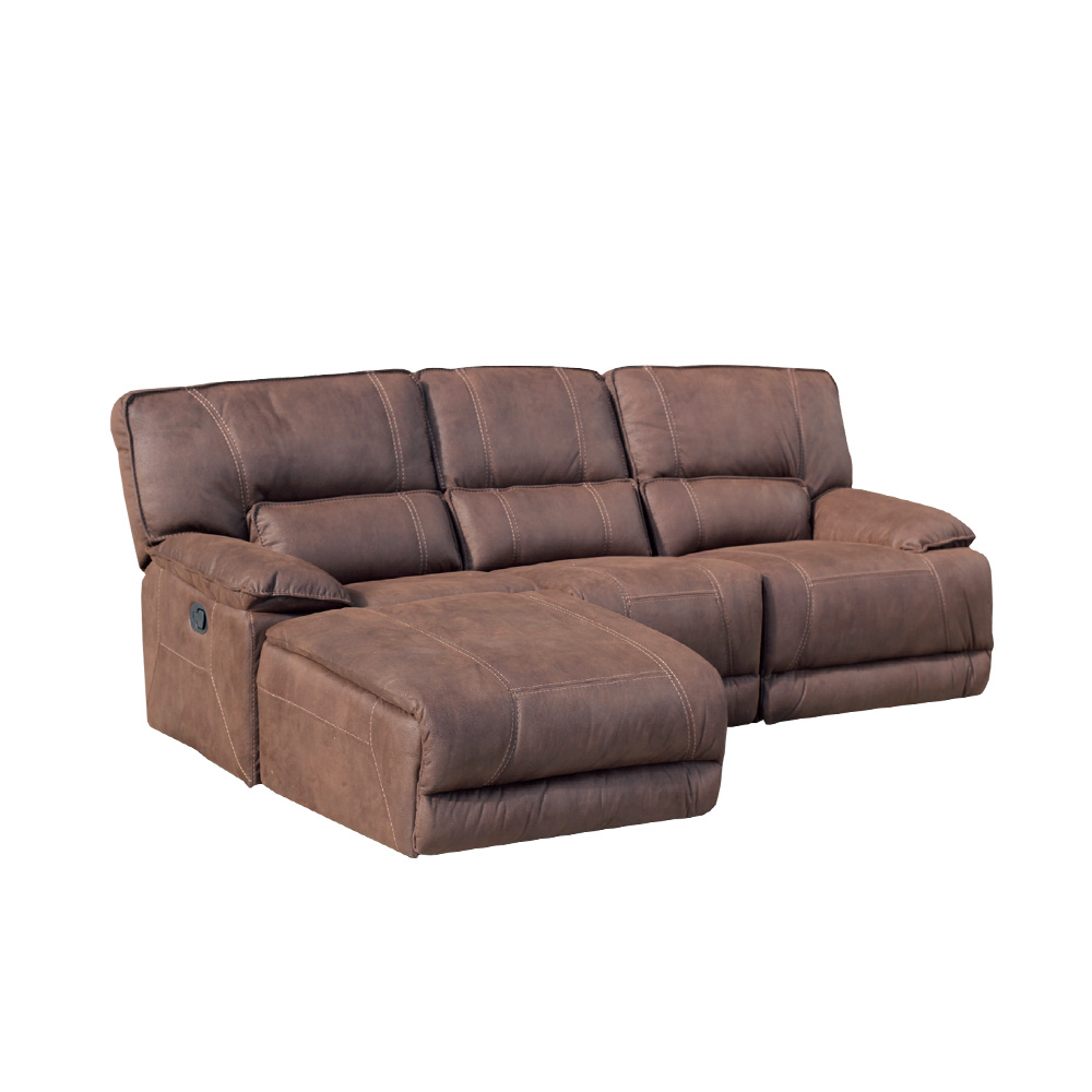 Sof 3 plazas con cheslong viena el ctrica royal nobuck for Sofa cheslong